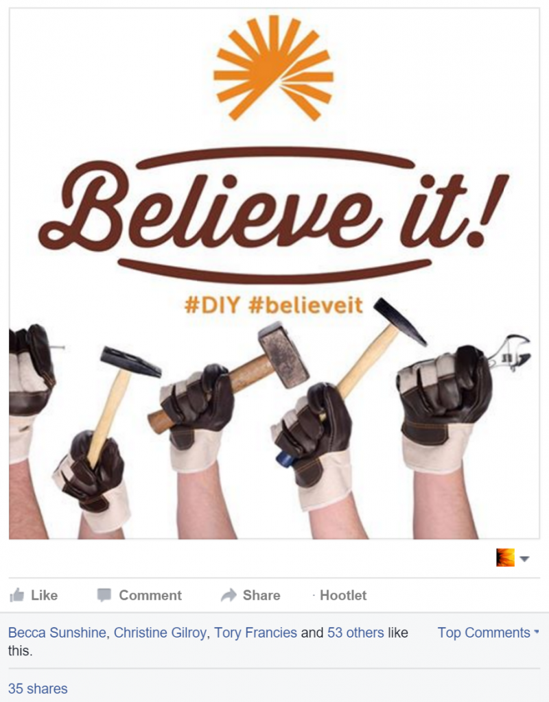 Rachel Moore designed and boosted the Facebook Image for Colorado HealthOP's Facebook post.