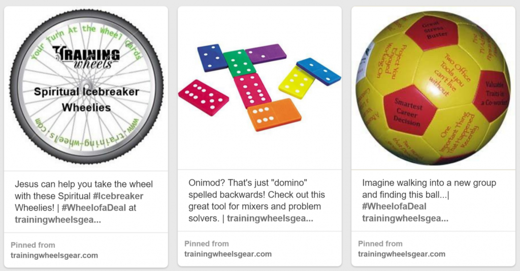 Rachel Moore optimized and increased the Pins for Training Wheels' product offerings.