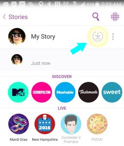 Save/download your entire Snapchat story with one click. (#ReallySocialTip)
