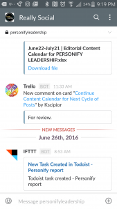 Really Social | Slack mobile app screenshot