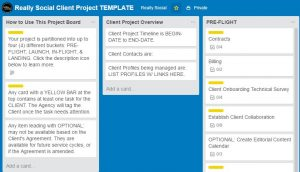 Really Social | Trello project management screenshot